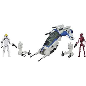 Star Wars 501st Legion Attack Dropship mit Clone Pilot und Battle Droid Figur [UK Import]