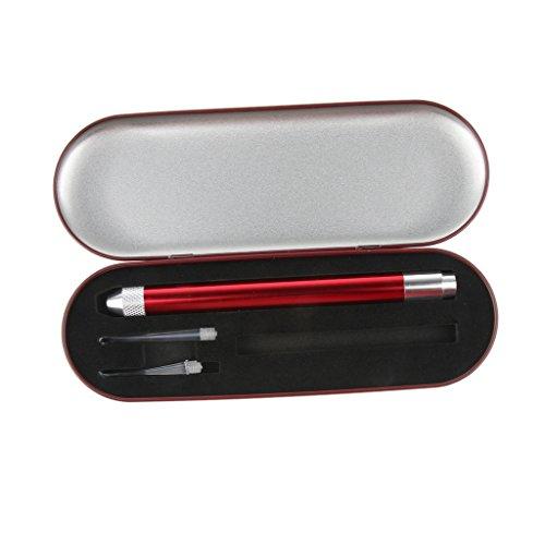 Baoblaze Ohrenschmalz entferner - Ohrenreiniger Ohrenschmalz entfernung Werkzeug mit Licht - rot (Rot Internationale Werkzeug-boxen)