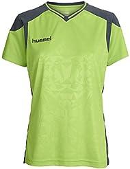 Hummel Trikot Sirius SS Jersey, Sirius Short Sleeve Jersey, NOS, mujer, color hellgrün / anthrazit, tamaño XS