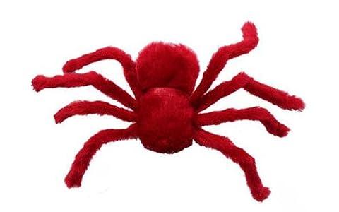 30cm Peluche De Araignée Décor d'Halloween Rouge