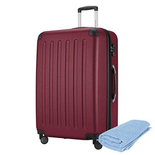 Hauptstadtkoffer - Spree Hartschalen-Koffer-XL Koffer Trolley Rollkoffer Reisekoffer Erweiterbar, 4 Rollen, TSA, 75 cm, 119 Liter, Burgund +Badehandtuch