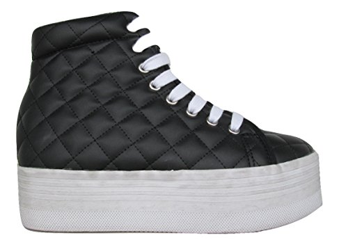 Jeffrey Campbell JC Play Homg Quilted Lea Wash Black-White (41)