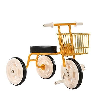 Strollers NAUY @ Triciclo Simple de los niños Bicicleta Vintage Bicicleta de bebé 1-3-4 años Cochecito de bebé Coche de bebé Interior Sillas de Paseo