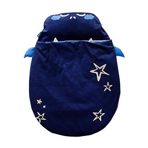 JSIHENA Gigoteuse Bébé Manches Grenouillère en Coton Enfant Automne et Hiver Sac de Couchage bébé Mignon épaississement câlin Coton Anti-Kick,Blue