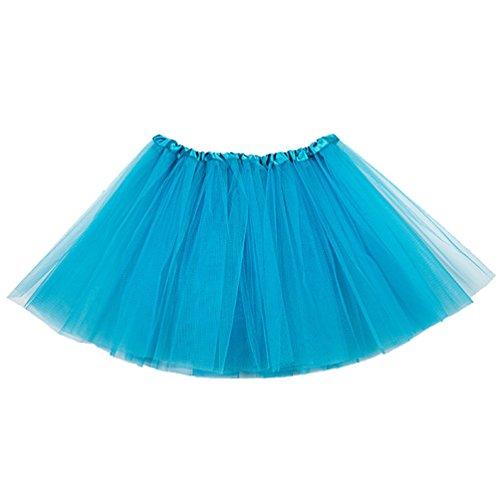 ck Mädchen Ballet Tutu Rock Kinder Petticoat Unterrock Ballett Kostüm Tüll Röcke Festliche Tütüs Erwachsene Pettiskirt Ballerina Petticoat Für Dirndl Pfauen Blau Kind (Erwachsene Pfau Tutu)