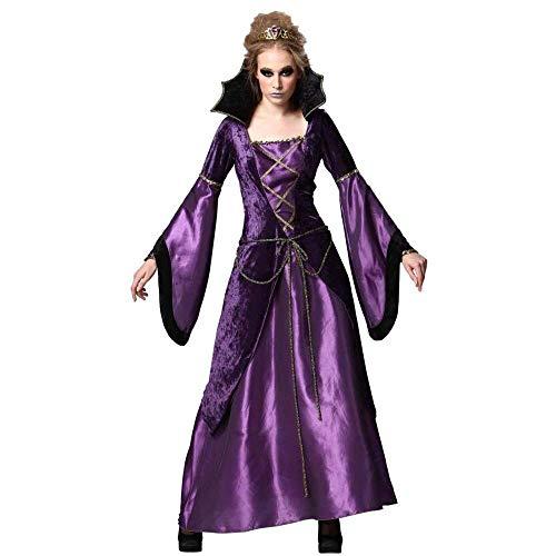 Vampir Kostüm Queen Gothic - Fashion-Cos1 Sexy Horror Lila Hexe Vampire Queen Kostüm Erwachsene Halloween Karneval Cosplay Frauen Gothic Hexe Langes Kleid