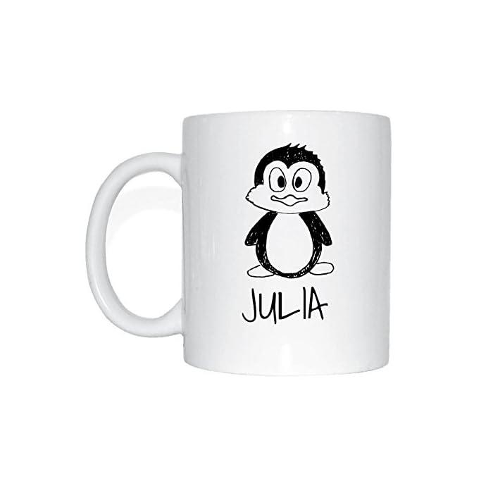 JOllipets JULIA Namen Geschenk Kaffeetasse Tasse Becher Mug PM5534 - Farbe: weiss - Design: Bär