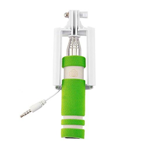 In acciaio inox colorato 14-60cm Mini estensibile portatile Selfie Stick Wired Remote Shutter Monopiede per tutte le marche cellulare