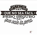 HLLCY Dekorative Viny Wandaufkleber Spanisch Berühmte Zitat Inspirierende Phrase Wandtattoos Aufkleber Wohnkultur Für Wohnzimmer Dekoration
