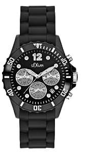 s.Oliver Damen-Armbanduhr Chronograph Silikon schwarz SO-2140-PC