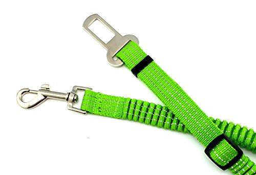 Scarlet pet | KFZ-Hundegurt »Secure II« Sicherheitsgurt zum Anschnallen von Hunden im Auto; elastischer Dämpfer/Ruckabsorber; einstellbare Länge; mit Karabinerhaken (Grün)
