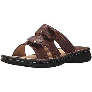 AdTec Women's 8566-BR Slide Sandal, Brown, 9 Medium US