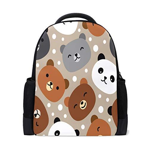 ISAOA Kinder Rucksack Schulrucksack für Mädchen Jungen niedlicher Bär Casual Rucksack Daypack Laptop Rucksäcke -