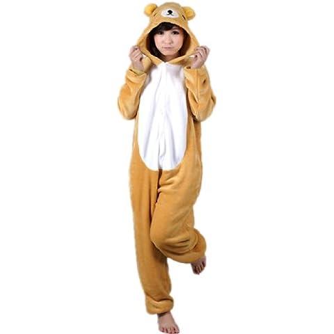 Autek Animales Unisex Body Disfraz Jersey pijamas ropa de noche oso Rilakkuma