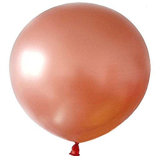 umbo Round Latex Ballon - Packung mit 6 Big Ballon für Hochzeit, Baby Show Birthday Party Dekoration (Rosé Gold) ()