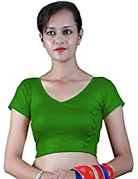 753e89b3e1b17 Gebisha Fashion Women s Lycra Front Buttons Design Plain Stretchable Blouse