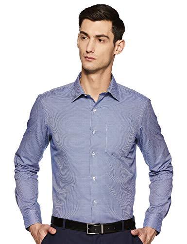 Bradstreet by Arrow Men's Plain Slim Fit Formal Shirt (BFXSH027_blue39)