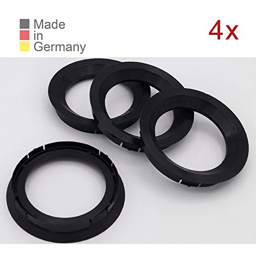 KONIKON 4X Zentrierringe 76,00 x 57,10 mm Schwarz Felgen Ringe Radnaben Zentrierring Adapterring Ring Felgenring Distanzring Made in Germany