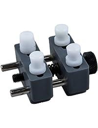 SODIAL(R) Herramienta de abrazadera Movimiento Regulable Soporte de Reloj Reparador de plastico Reparador Relojero Gris