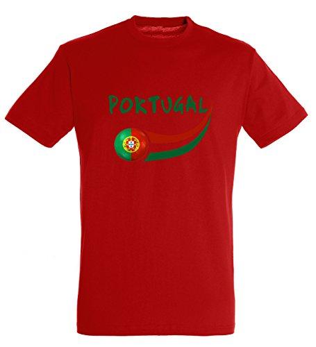 Supportershop T-Shirt Portugal Herren, Rot, FR: S (Größe Hersteller: S)