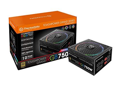 Thermaltake Toughpower Grand 750W RGB Sync Edition PC Netzteil 80Plus Gold zertifiziert (750 Zertifizierte Netzteil)