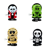 4Pcs Creative Wind-up Toys Halloween Assorted Clockwork Toys Zombie Vampire Toy Party Favors Goody Bag Filler for Halloween Party