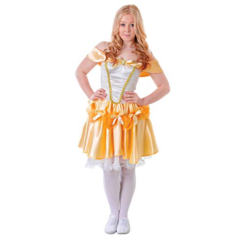 Belle Kostüm Teen - Bristol Novelty TC105 Belle Kostüm, Damen, Mehrfarbig, S