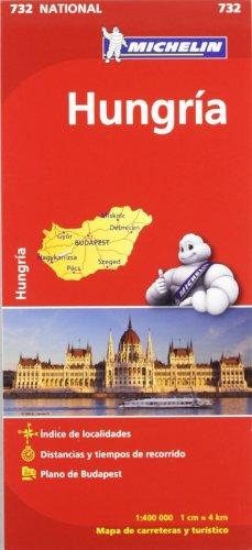 Mapa National Hungría (Mapas National Michelin) por Vv.Aa