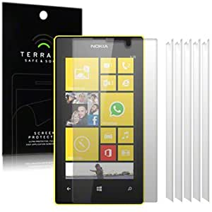 Nokia Lumia 520 / Lumia 525 Screen Protector Case / Guard / Film / Cover 6-in-1 Pack By Terrapin