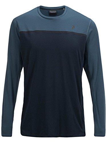 Herren Langarmshirt Peak Performance Rucker T-Shirt salute blue