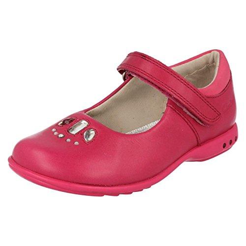 Antimikrobielle Leder Sandalen (Clarks Trixi Spice Girls Schuh in rosa oder lila Leder Pink 7½ G)