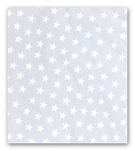Aminata Kids – Bettwäsche-Set Sterne 155-x-220-cm – Mädchen, Jungen & Jugendliche – Baumwolle – hell-blau weiß – Komfort-Größe – weiches Material, Marken-Reißverschluss & Öko-Tex