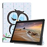 Fmway Lenovo Tab E10 Case, Ultra Slim Smart Leather Cover