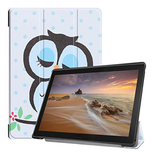Fmway Lenovo Tab E10 Hülle, PU Leder Flip Schutzhülle Case Tasche mit Ständerfunktion für Lenovo Tab E10 TB-X104F