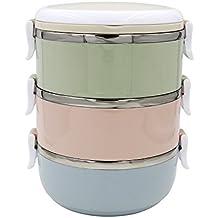 Yontree® Boîte Bento Boîte Repas Lunch Box Acier Inox 3 Couches