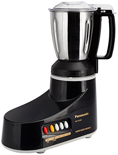 (CERTIFIED REFURBISHED) Panasonic MX-AC400 550-Watt Super Mixer Grinder with 4 Jars (Black)