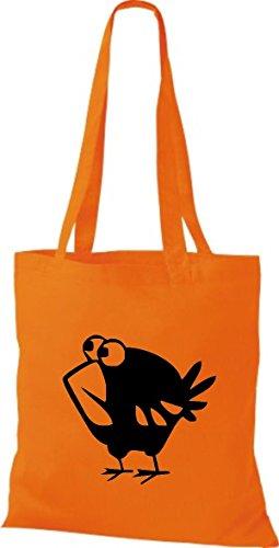 Sacchetto Di Stoffa Maglie Animali Uccello Arancione Passero