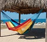 MacaMex Hängemattengestell, Mexikanische Netzhängematte Mehrpersonen Hängematte 3 Personen 250 kg, 410 x 250 x 150 cm, paradiso - 3