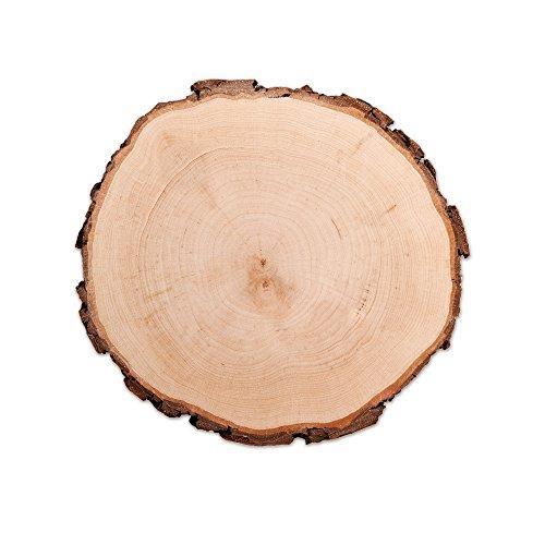 Baumscheibe – Perfekt als Türschild, Wandschild, Topfuntersetzer, Dekoration – Naturprodukt aus Holz