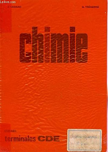 CHIMIE - CLASSES DE TERMINALES CDE / PROGRAMME DE 1966.