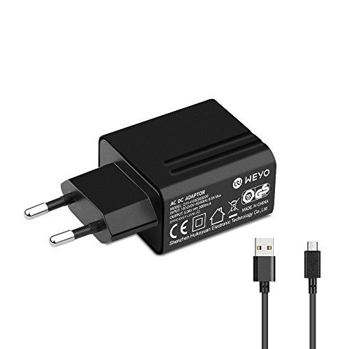 TUV 5V Micro USB Netzteil Ladekabel Ladegerät für Acer Iconia A1/A3/B1/One 7/One 8/One 10/Tab 7/Tab 8/Tab 10/W1/W4/Lenovo Yoga Tablet/Yoga Tab 3/ThinkPad Tablet/IdeaPad Miix/IdeaTab A
