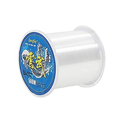 BetterJonny 500 Meters Nylon Fishing Line, Strong Tension Monofilament Clear Nylon Fishing Line about 0.34mm in diameter Fishing Line Clear