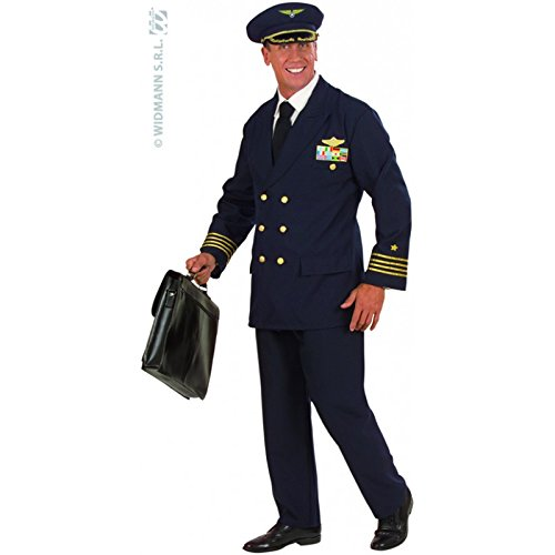 Mens Pilot Costume Double Extra Large UK 48/50 for Aviation Fancy ()