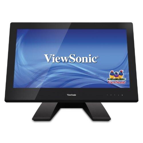 ViewSonic TD2340 58,4 cm (23 Zoll) Ergonomischer 10-Punkt-Touch LED-Monitor (HDMI, Display Port, VGA, 7ms Reaktionszeit, Lautsprecher) schwarz