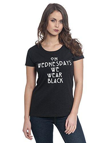 American Horror Story Wednesdays Damen T-Shirt Schwarz, Größe:XS