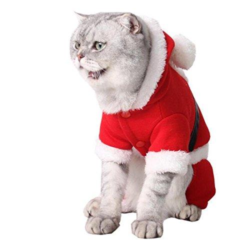 LDD STAR Haustier Partei Kleid rot Weihnachten Kostüm Hund Katze Festival Stückschaft Klettern vier Füße Kapuzen Pullover , xs