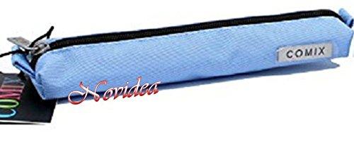 Astuccio tombolino rettangolare comix blu vuoto 22x2x5 cm