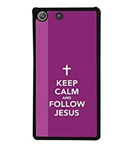 printtech Keep Calm Jesus Back Case Cover for Sony Xperia M5 Dual E5633 E5643 E5663 , Sony Xperia M5 E5603 E5606 E5653
