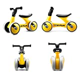 SJHO Kinder Balance Auto - 18~36 Monate Keine Fußpedal 4 Rad Balance Bike Indoor Outdoor-Gelb
