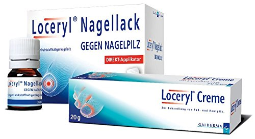 Loceryl Creme + Loceryl Nagellack gegen Nagelpilz mit Direkt-Applikator,1Set